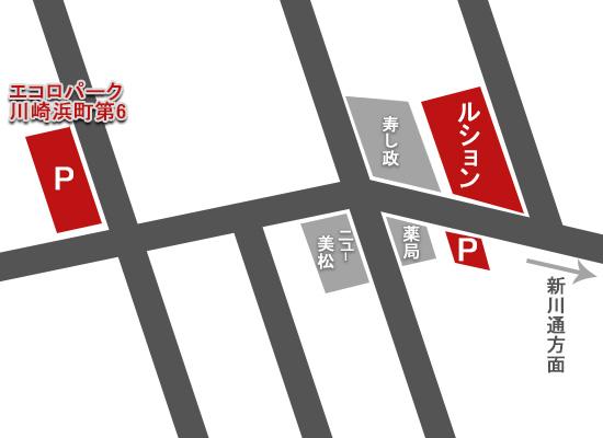 川崎ラブホテルルションのマップ